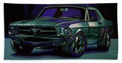 Ford Mustang 1967 Painting Beach Sheet