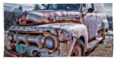 Ford Panel Truck Beach Towel