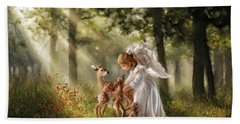 Forest Angel Beach Towel