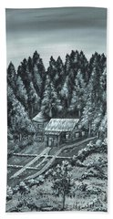 Forest Cottage Beach Towel