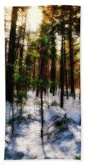 Forest Dawn Beach Towel