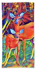 Forest Doe And Fawn Beach Towel