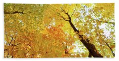 Forest Fall Yellow  Beach Towel by Lyle Crump