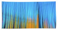 Forest Fire Beach Towel by Tony Beck