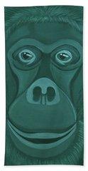 Forest Green Orangutan Beach Towel