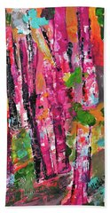 Forest In Sunset Beach Towel