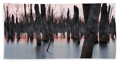 Forest In The Water Beach Towel by Jennifer Ancker