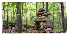 Forest Inukshuk Beach Towel