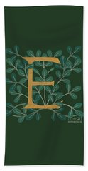 Forest Leaves Letter E Beach Sheet