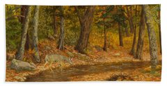Forest Life Beach Towel by Roena King