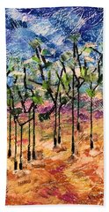 Beach Towel featuring the painting Forest by Norma Duch