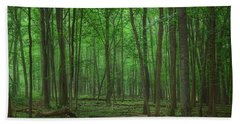 Forest Of Green Beach Towel