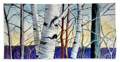 Forest Of Trees Beach Towel