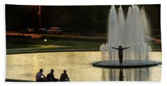 Forest Park Fountain Beach Towel
