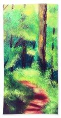 Forest Path Beach Sheet