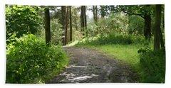 Forest Path. Beach Towel