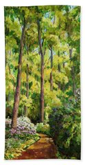Forest Pathway Beach Sheet by Alexandra Maria Ethlyn Cheshire