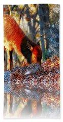 Forest Reflections Beach Sheet by Steve Warnstaff
