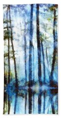 Forest Sentries In The Mist Beach Towel
