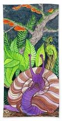 Forest Snail Beach Towel