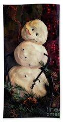 Forest Snowman Beach Sheet by Lois Bryan