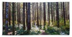 Forest Stroll Beach Sheet