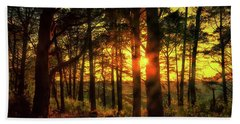 Forest Sunset Beach Towel