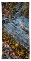 Forest Tidal Pool In Granite, Harpswell, Maine  -100436-100438 Beach Towel