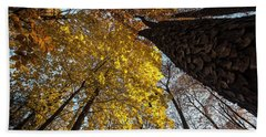 Forest Trees-yellow-orange Beach Towel