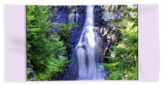 Forest Waterfall Beach Towel