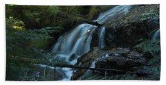 Forest Waterfall. Beach Towel
