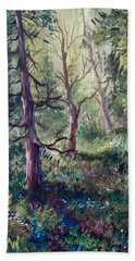 Forest Wildflowers Beach Sheet by Megan Walsh