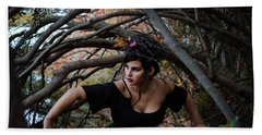 Forest Witch Beach Sheet by Stefanie Silva