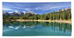 Forget Me Not Pond Panorama Beach Sheet