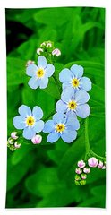 Forget Me Nots Beach Towel