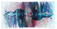 Forgive Arrow Beach Towel