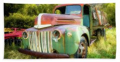 Forgotten - 1945 Ford Farm Truck Beach Towel