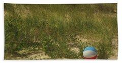Forgotten Beach Ball Beach Sheet by Suzanne Powers