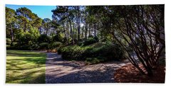 Beach Towel featuring the photograph Fork In The Path by Ken Frischkorn