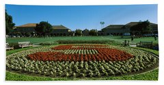 Formal Garden At The University Campus Beach Towel by Panoramic Images