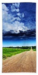Forming Clouds Over Gravel Beach Towel
