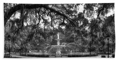 Forsyth Park Fountain 2 Savannah Georgia Art Beach Towel by Reid Callaway