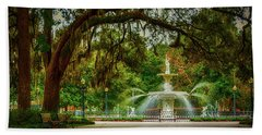 Forsyth Park Fountain Beach Sheet