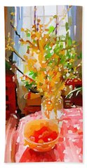 Forsythia Spring Gloucester, Ma Beach Towel
