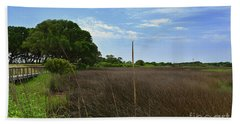 Fort Fisher Grass Meadow Beach Towel