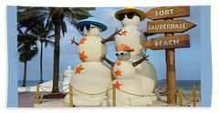 Fort Lauderdale Snowman Beach Towel