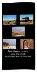 Fort Massachusetts Poster Beach Sheet