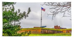 Beach Towel featuring the photograph Fort Mchenry National Monument  by Nick Zelinsky