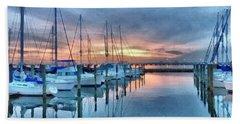 Fort Monroe Afire Beach Towel by Linda Mesibov