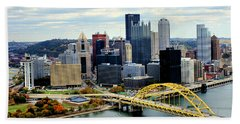 Beach Towel featuring the photograph Fort Pitt Bridge by Michelle Joseph-Long